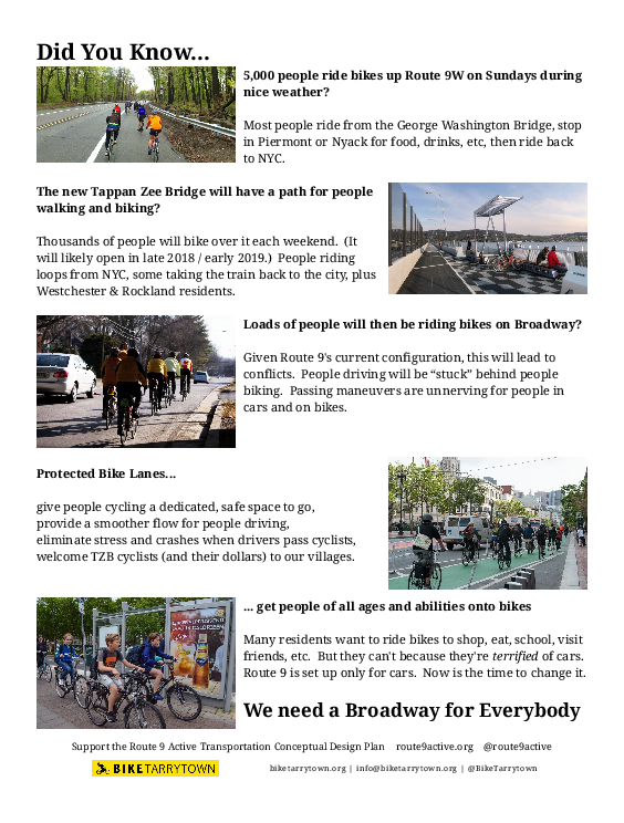 Front page of our Broadway for Everybody flyer